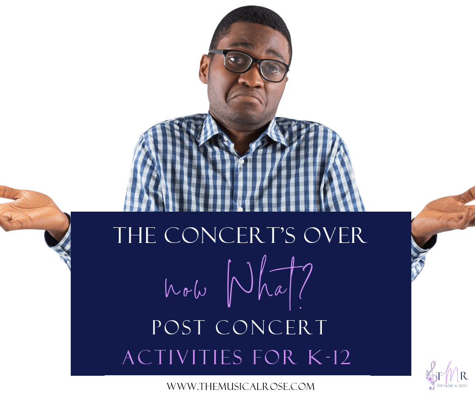 So Your Concert Is Over, Now What?