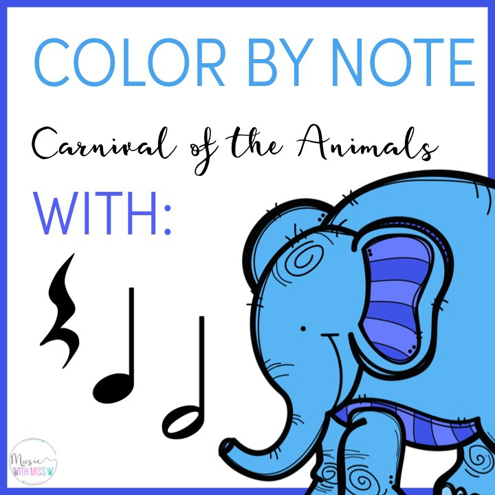 Color by Note Carnival of the Animals
